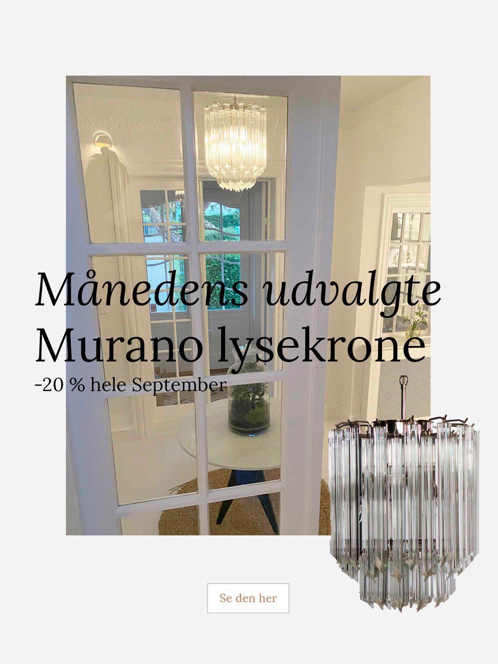 murano lysekrone 55 prismer