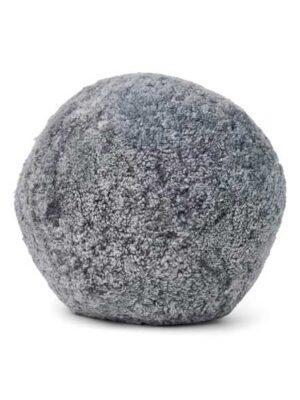 Pude - Korthåret lammskind - Lys grå