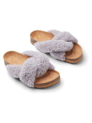Slippers lammeuld grå