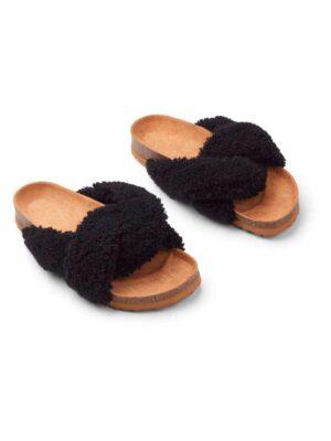 Slippers - Lammeskind - Cross - sort