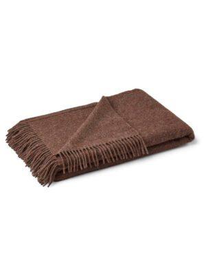 Natures collection julie tæppe baby alpaca mørk brun