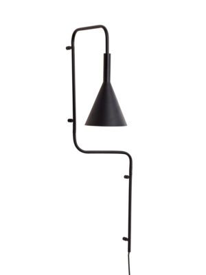 hübsch Væglampe, sort