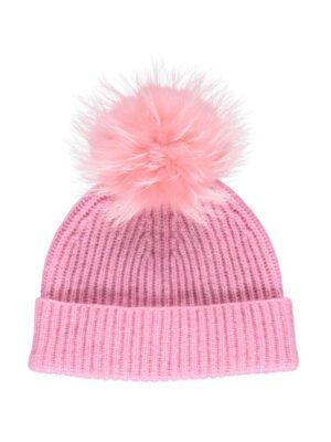 Mathilde Hat hue Australian Wool Raccoon natures collection lyserød rosa