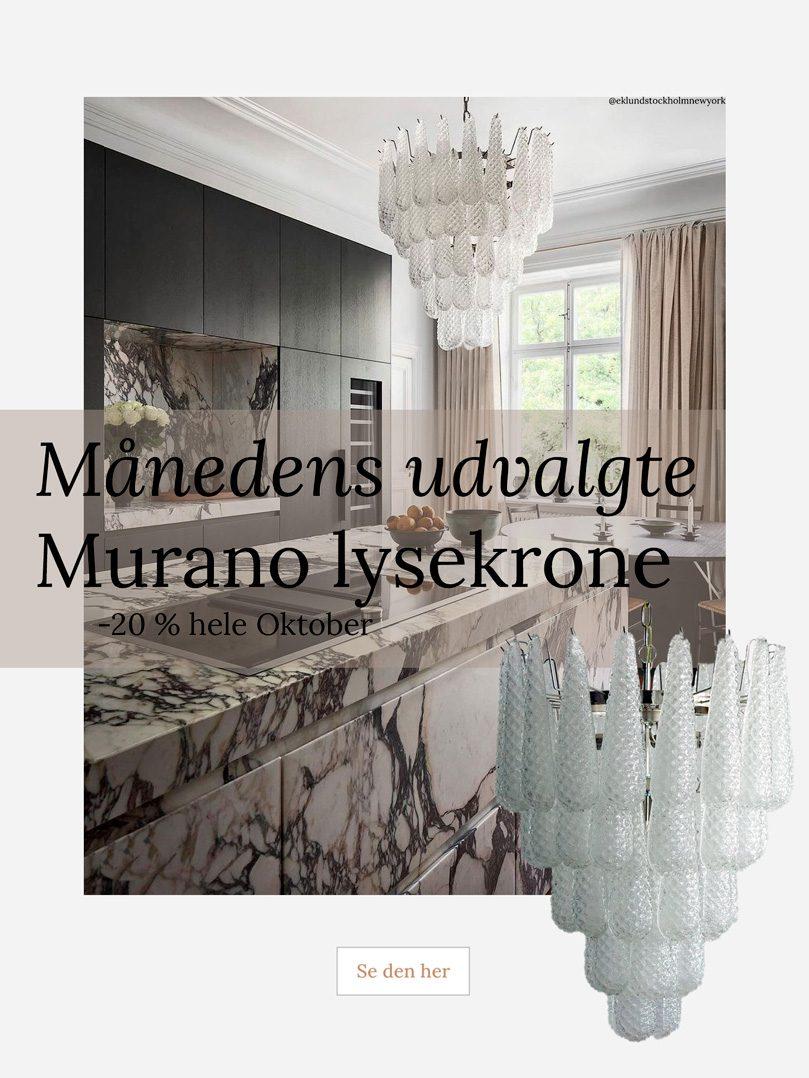Murano lysekrone lampe